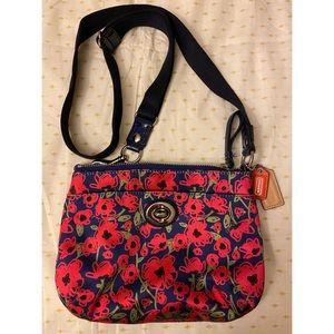Coach messenger bag with cellphone case